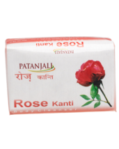 PATANJALI ROSE KANTI BODY CLEANSER/ BODY SOAP - 75gm - $11.67