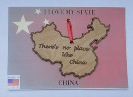There's No Place Like China Wood Ornament Made in the USA - $5.95