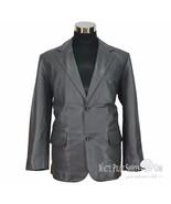 Mens Blazer jacket leather Single breasted 2 button Suit Cut lapel Coat ... - $198.61+