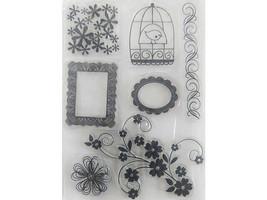 Florals and Frames Clear Stamp Set