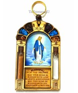 Catholic Virgin Mary Queen Of Heaven Home Blessing Wall Hanging Holy Wat... - $18.48