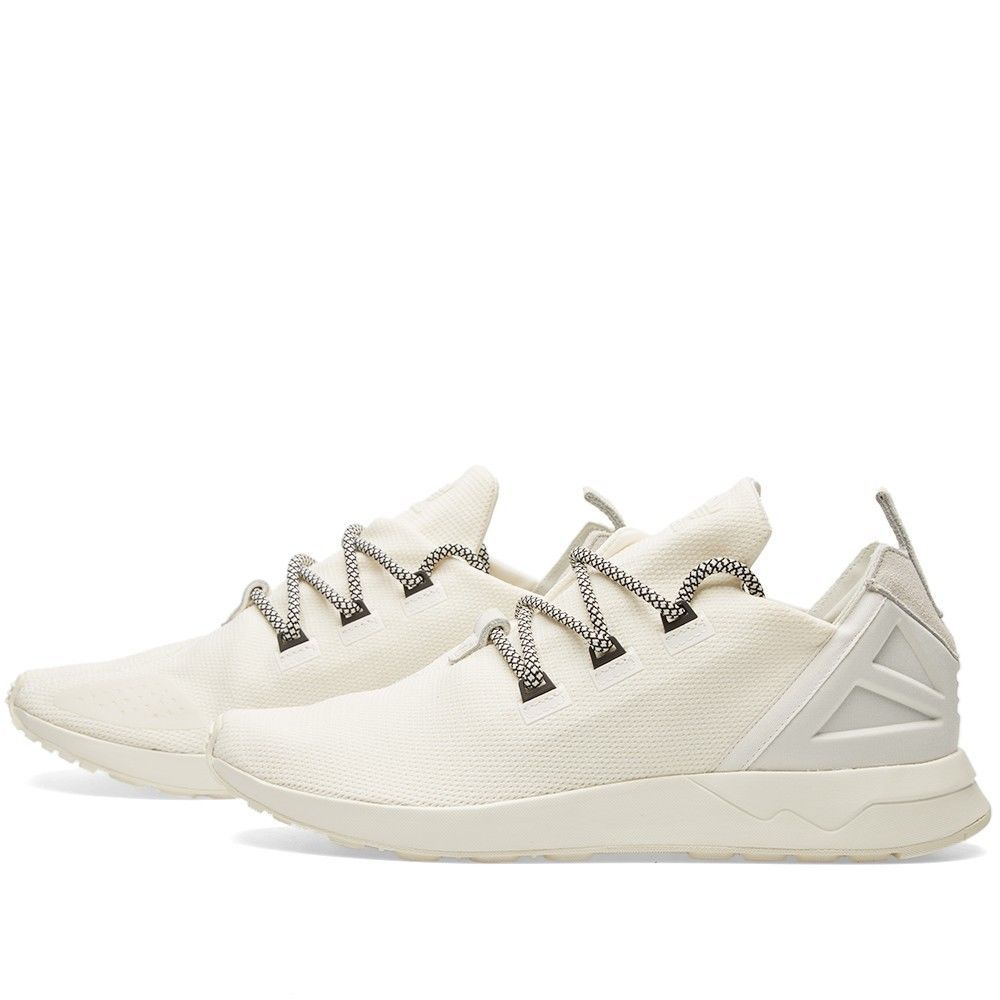 0e8c553d5f5 Adidas ZX Flux ADV X Off White Men s Running Shoes 14 Yeezy Laces NEW LOOK!