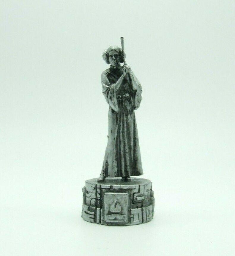 Star Wars Saga Edition Silver Princess Leia Bishop Chess Replacement Game Piece