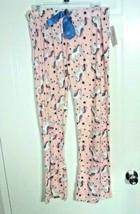 Bobbie Brooks Woman's Pink with Unicorn Print Lounge Pants - Size: M - $7.73