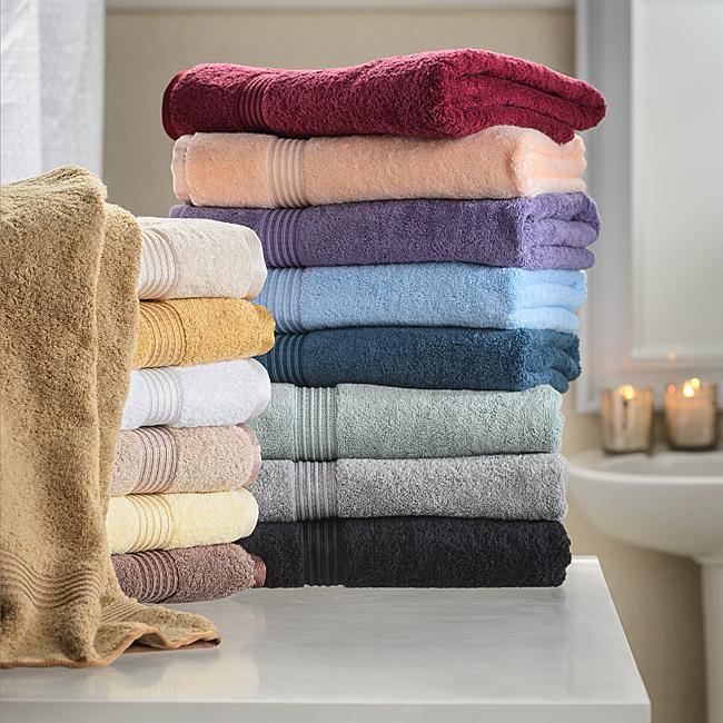 8-pc Royal Purple Superior 600 GSM Long Staple Cotton Hand Towel Set image 2