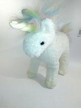TY Sparkles the Unicorn 1996 Classic Plush Beanie Buddies White Rainbow Mane - $18.80