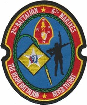 USMC 2nd Bn 6th Marines The Ready Battalion Patch and 4'' Sticker - $19.79