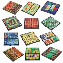 "12 Mini Magnetic Travel Fun On The Way Games 5"" Length x 5"" Width Foldab... - $32.96"