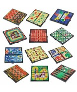 """12 Mini Magnetic Travel Fun On The Way Games 5"""" Length x 5"""" Width Foldable Cases - $39.19"""