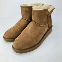 Brand New Kirkland Signature Ladies' Sheep Skin Shearling Short Boots Chestnut image 4