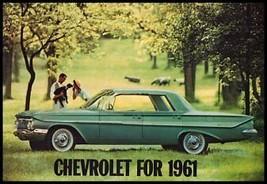 1961 Chevrolet Brochure, Impala Bel Air Biscayne Corvette Wagons, 12 pg ... - $11.39