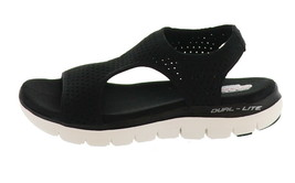 Skechers Knit Cutout Sport Sandals Deja Vu Black 7M NEW A349857 - $46.51
