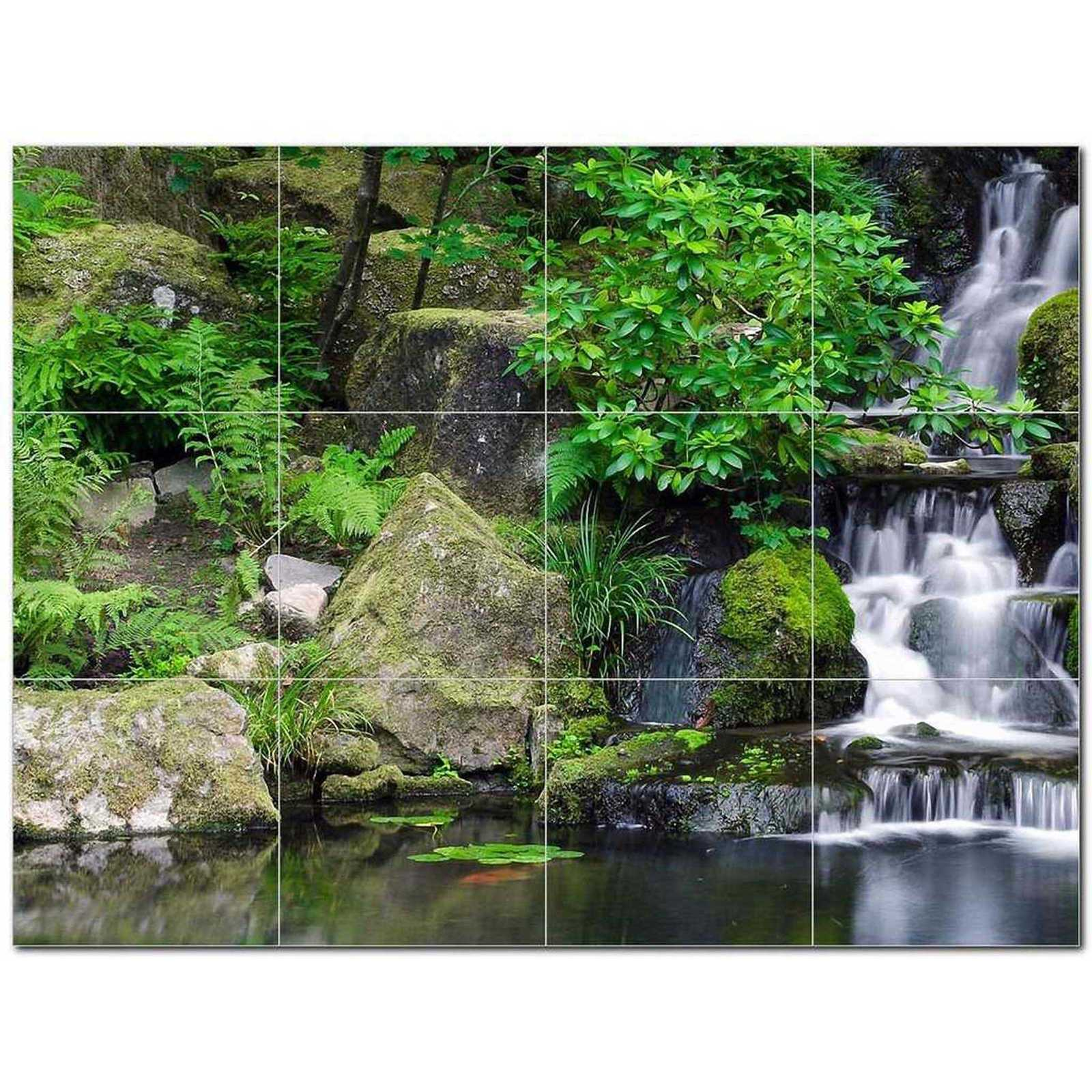 Primary image for Waterfall Photo Ceramic Tile Mural Kitchen Backsplash Bathroom Shower BAZ406101