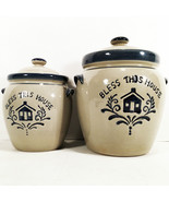 "SALT GLAZE STONEWARE ""BLESS THIS HOUSE"" INGREDIENT JARS 'HOME SWEET HOME' - $29.95"