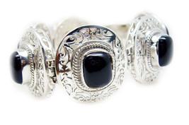 Elegant Black Onyx 925 Sterling Silver Black Bracelet handcrafted gift f... - $158.39
