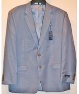 Chaps by Ralph Lauren Mens 46 Regular 46R 2 Button Light Blue Jacket - $119.98