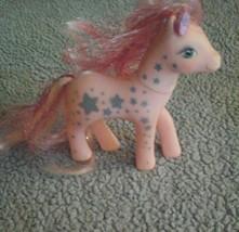 Vintage  My Little Pony Glitter Ponies 1988 Pink W/Stars - $27.71
