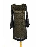 EMMA & MICHELLE Size S, 4, 6 Black Crocheted Lace Dress EUC - $15.99