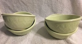 Set of 4 BLOCK by GEAR Whisper Green Embossed Tulips Coupe Dessert Bowls - $15.83