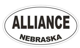 Alliance Nebraska Oval Bumper Sticker or Helmet Sticker D5102 Oval - $1.39+