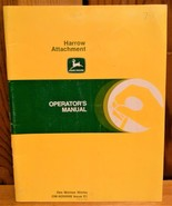 John Deere Harrow Attachment Operator's Manual Des Moines Works  Issue E1 - $8.95