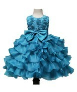 Toddler Infant Party Ball Gown Sky blue Dress for Baby Girl Birthday Dre... - $79.27 CAD