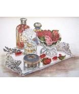 Perfume Bottle Vignette Print~Shabby Chic~Framed~Matted~Print~Vintage~#6... - $29.99