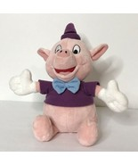 Disney Pink Pig Plush Stuffed Animal Beanie Purple Shirt Hat Blue Bow Ti... - $27.72