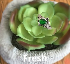 1.6 ct. emerald 925 Silver Ring - $21.99