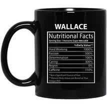 Personalized Mug with Name for Men, Women - Wallace Nutritional Facts - ... - $21.73