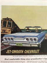 Jet Smooth Chevrolet Vtg 1963 Print Ad Convertible San Francisco - $9.89