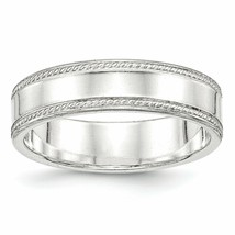 Argento Sterling 6mm Design Edge - $54.80