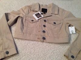 New Jessica Simpson Cropped Beige Tan Jacket Juniors Sz Medium Hot! $69 - $39.00