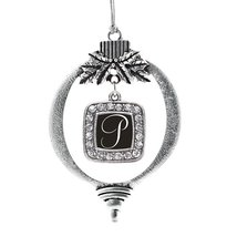 Inspired Silver My Script Initials - Letter P Classic Holiday Decoration... - $14.69