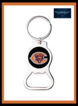 CHICAGO BEARS CUSTOM METAL BOTTLE OPENER KEY RING KEYCHAIN GREAT GIFT - $9.85