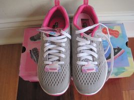 "BNIB Skechers® Women's ""Skech-Air 2.0"" Aim High Training Shoes, grey/pink, $85 image 5"