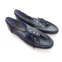 Keds Black Faux Leather Champion Boat Shoe Womens 8 - $18.00