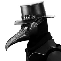 Plague Doctor Steampunk Bird Leather Halloween Party Mask Costume Cospla... - £35.53 GBP