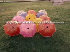 Indian Traditional Wedding Decorative Handmade 50 PC Lot Sun Umbrella P... - $249.38