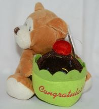 Beverly Hills Brand Playfully Elegant Brown Color Congratulations Cupcake Bear image 4