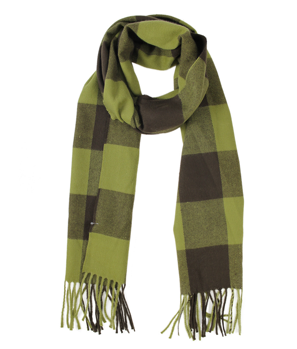 Cashmere Touch Super Acrylic Plaid Woven Scarf