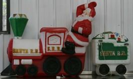 Empire Blow Mold S.R.R. Santa R.R.Train W/ Caboose Lighted Christmas Yar... - $990.00