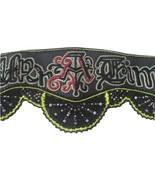 New BUBA London handmade embroidered beaded crocheted wide leather belt ... - $276.45