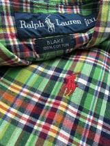 Polo Ralph Lauren Blake Men Shirt Madras Short Sleeve Cotton Button Up Down XL - $18.46
