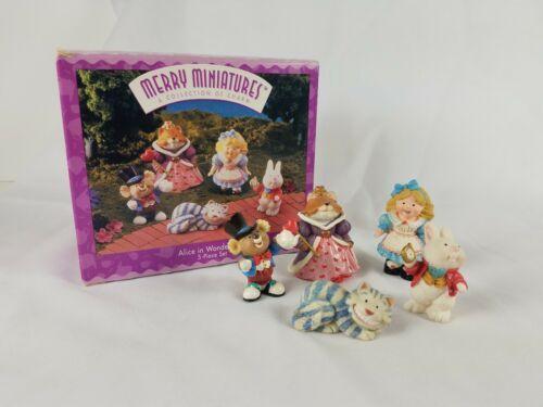 Hallmark Merry Miniatures Alice in Wonderland 5 Piece Set Lot