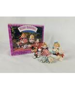 Hallmark Merry Miniatures Alice in Wonderland 5 Piece Set Lot - $9.85