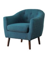 Lucy Mid Century Accent Chair in Fabric - Blue - $550.19