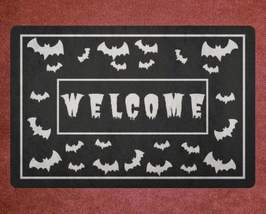Gothic Home Decor - Crazy Bats Doormat Welcome Mat House Warming Gift Ho... - £21.77 GBP+