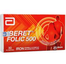 2 Boxes Abbott Iberet Folic 500 Iron Vitamin C, B Complex Folic Acid EXPEDITE  - $58.89