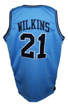 Dominique Wilkins Pam-Pack High School Basketball Jersey New Blue Any Size image 2